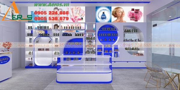 Hình ảnh thiết kế nội thất shop mỹ phẩm Bonivy, Quận Tân Bình, TPHCM