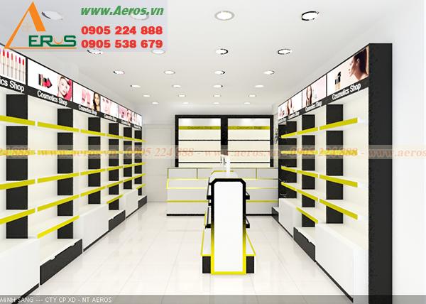 Hình ảnh thiết kế shop mỹ phẩm chị Giao tại quận Gò Vấp, TPHCM