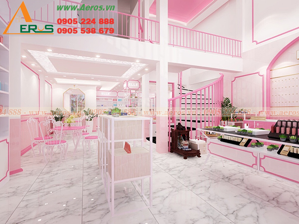 Hình ảnh thiết kế shop mỹ phẩm chị Hiên tại quận Thủ Đức, TPHCM