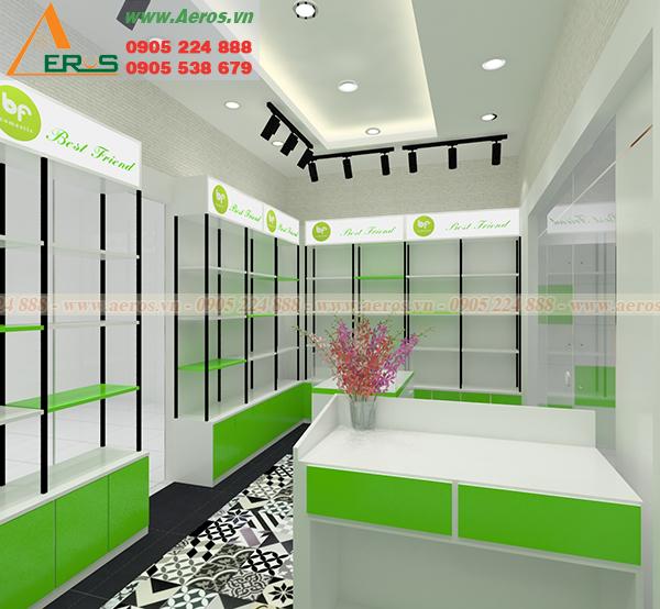 Hình ảnh thiết kế shop mỹ phẩm chị Liên