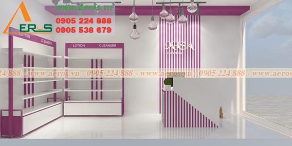 Hình ảnh thiết kế shop mỹ phẩm chị Misa
