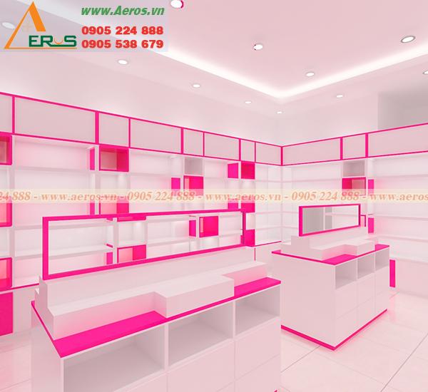 Hình ảnh thiết kế  shop mỹ phẩm chị Sương tại quận 12.