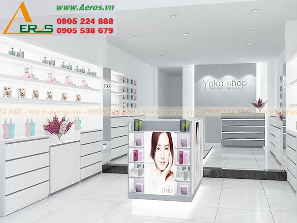 thiết kế cửa hàng mỹ phầm Yoko shop của chị Trúc