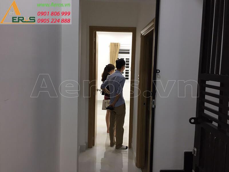Hình ảnh hiện trạng câng thiết kế thi công shop mỹ phẩm Hali Group tại quận Tân Bình, TPHCM.