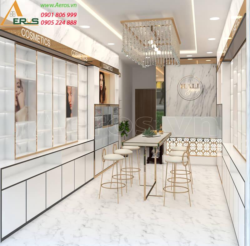 Hình ảnh thiết kế thi công shop mỹ phẩm Hali Group tại quận Tân Bình, TPHCM.