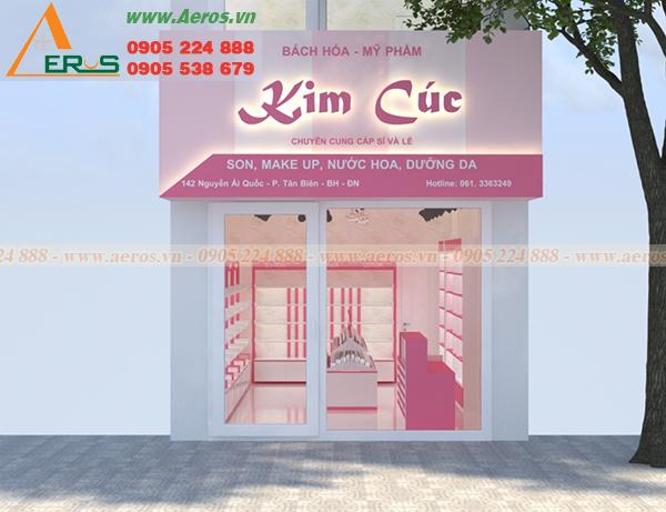 Hình ảnh thiết kế thi công shop mỹ phẩm Kim Cúc tại Biên Hòa, Đồng Nai