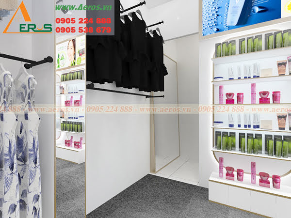 Hình ảnh thiết kế cửa hàng mỹ phẩm MACY ở tại quận Tân Bình, TPHCM