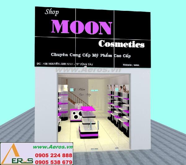 Thiết kế thi công shop mỹ phẩm Moon tại Vũng Tàu