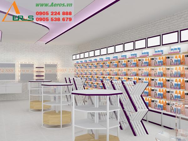 Hình ảnh thiết kế nội thất shop mỹ phẩm Nuty, Gò VẤP, TPHCM