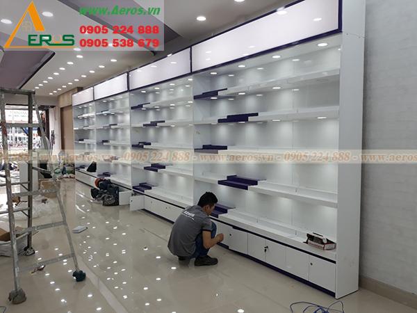 Thiet ke thi cong shop my pham nuty phan van tri, go vap, tp hcm