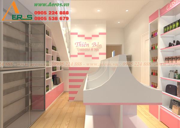 Hình ảnh thiết kế shop mỹ phẩm Thiên Bảo tại quân 11, TPHCM