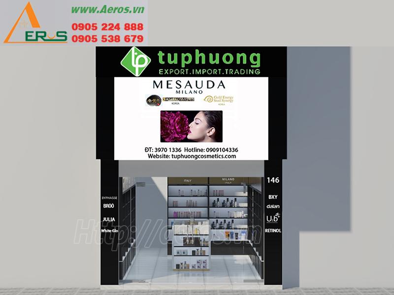 Hình ảnh thiết kế bảng hiệu quảng cáo cho shop mỹ phẩm Tứ Phương