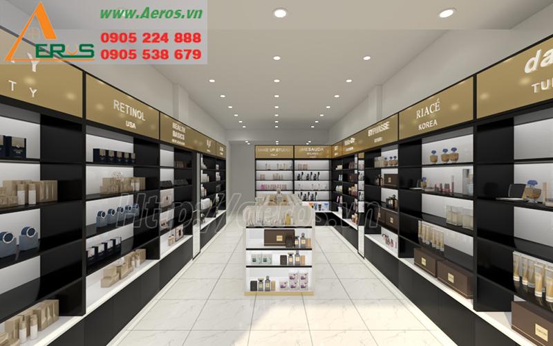 Hình ảnh thiết kế nội thất cho shop mỹ phẩm Tứ Phương ở quận Phú Nhuận, TPHCM