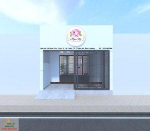 Thiết kế nội thất shop mỹ phẩm Miu Mi của anh Hồng tại Bình Dương
