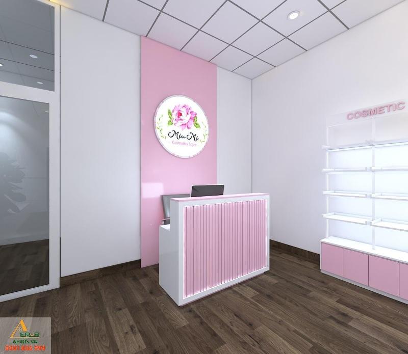 Thiết kế shop mỹ phẩm Miu Mi của anh Hồng tại Bình Dương