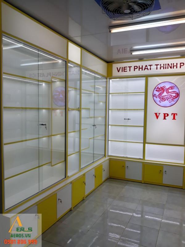 Thi công shop mỹ phẩm Việt Phát Thịnh Plastics của chị Ngọc tại Bình Dương