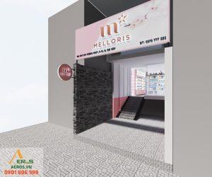 Thiết kế thi công nội thất shop mỹ phẩm Melloris của chị Diệp tại Gò Vấp