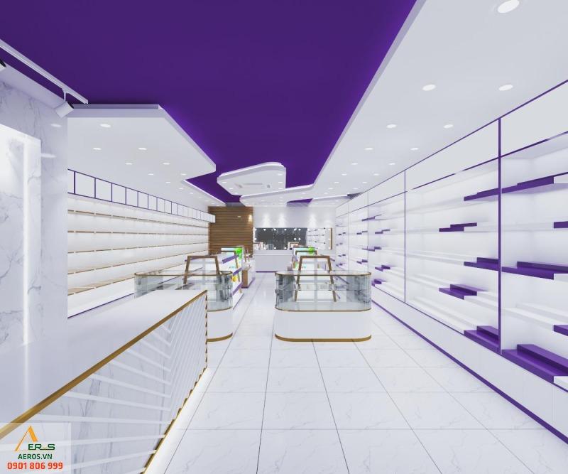 Thiết kế shop mỹ phẩm Nuty của anh Thắng tại Quận 4