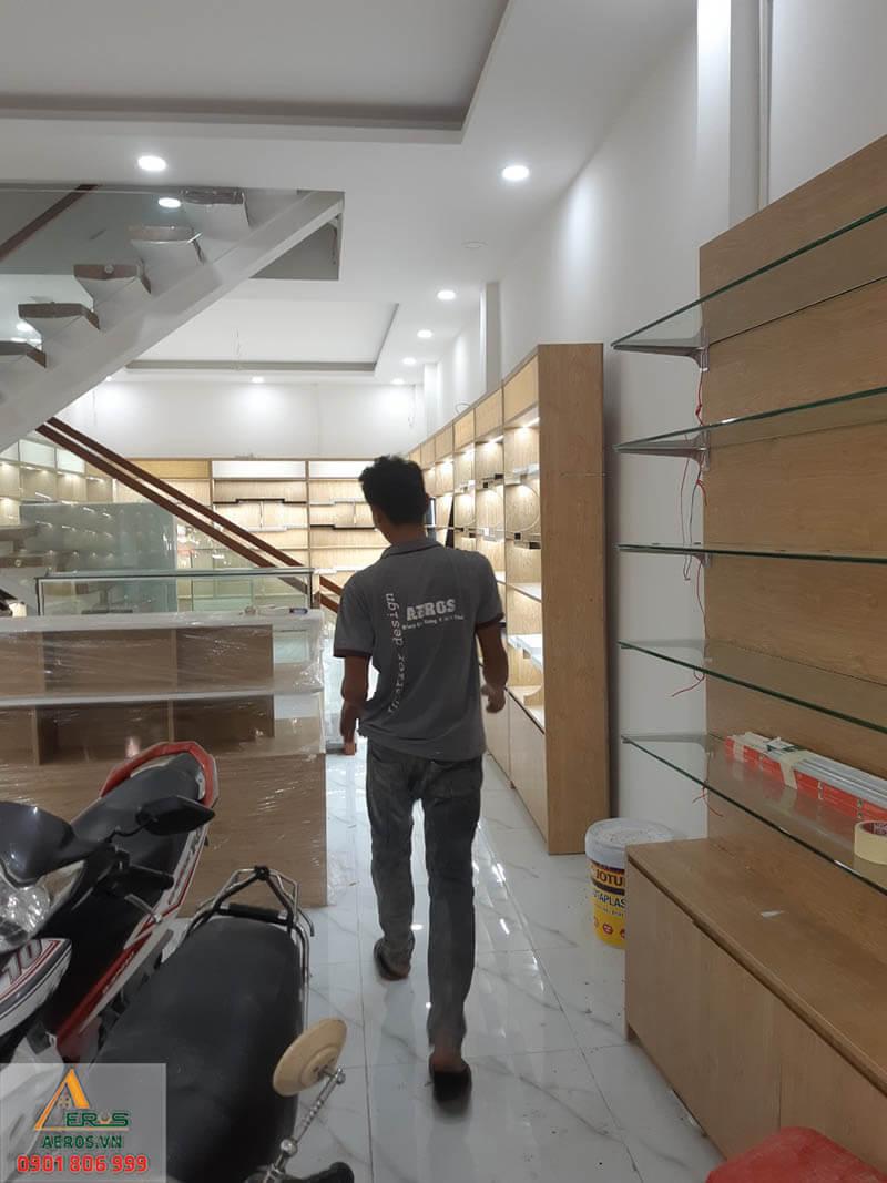 Quá trình thi công nội thất shop mỹ phẩm Na Na