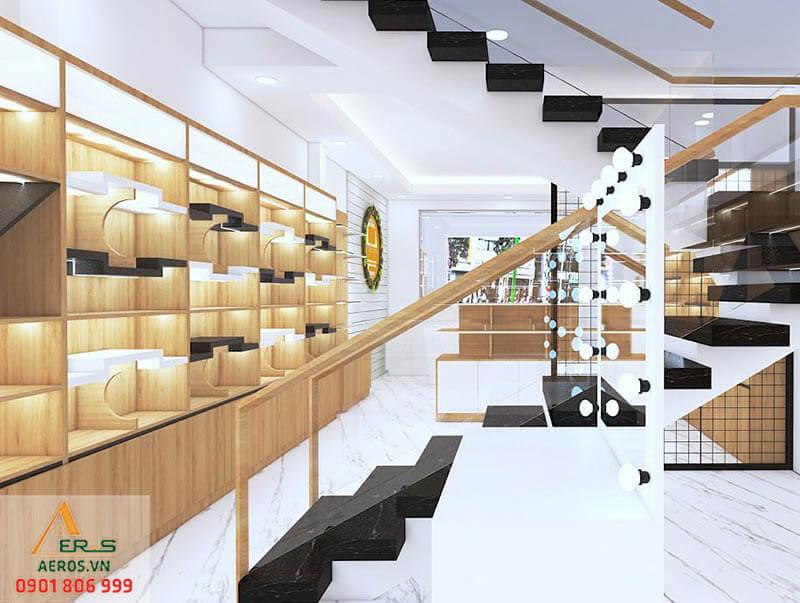 Thiết kế thi công nội thất shop mỹ phẩm Na Na tại quận Gò Vấp, TP.HCM