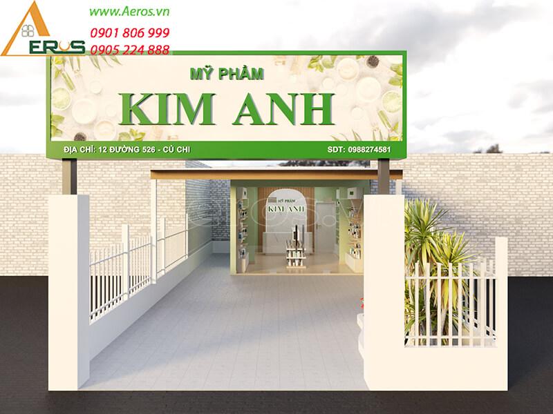 Thiết kế shop mỹ phẩm Kim Anh