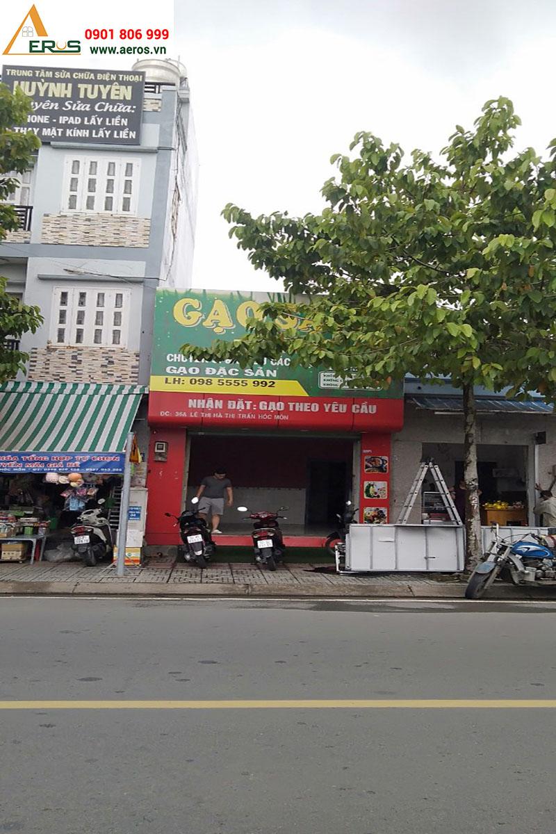 hiện trạng showroom mỹ phẩm AN tại Hóc Môn, TPHCM