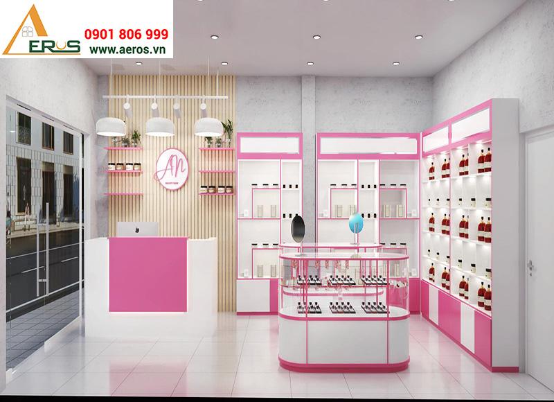 Thiết kế showroom mỹ phẩm AN tại Hóc Môn, TPHCM