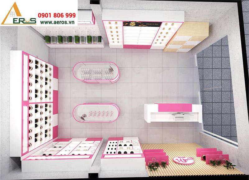 Thiết kế showroom mỹ phẩm AN tại Hóc Môn