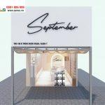 thiết kế shop mỹ phẩm September Quận 7