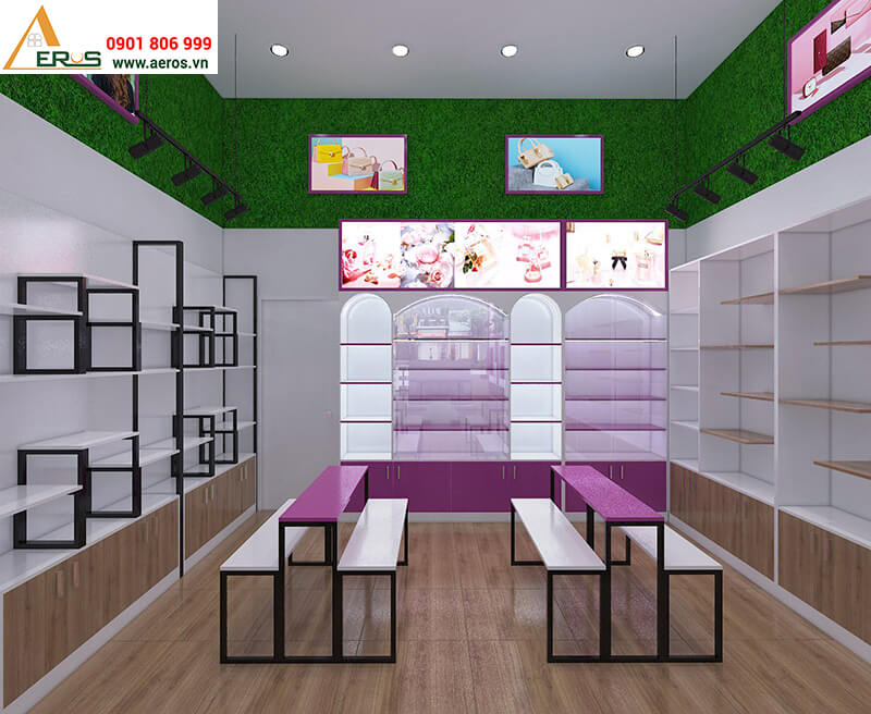 Thiết kế nội thất shop mỹ phẩm An Na của anh Kiện tại Bình Dương