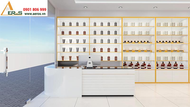 Thiết kế showroom mỹ phẩm Dũng Đào tại Tiền Giang