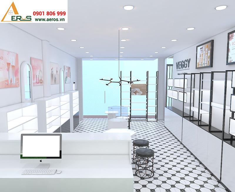 Thiết kế showroom mỹ phẩm VEGGY tại quận 9