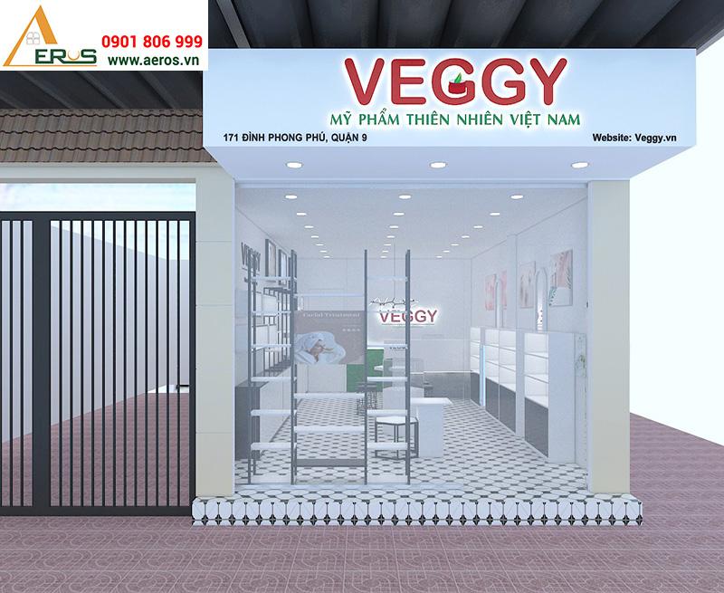 Thiết kế showroom mỹ phẩm đẹp VEGGY tại quận 9