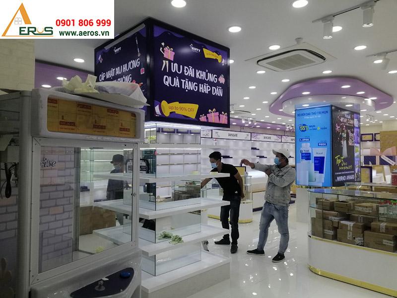 Thi công nội thất shop mỹ phẩm Nuty Cosmetic tại Hà Nội