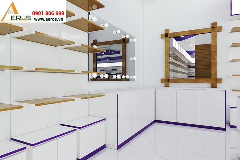 Thiết kế shop mỹ phẩm Nuty Cosmetic tại Hà Nội